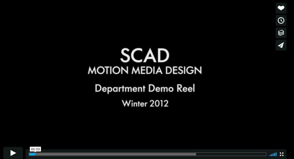 SCAD - Motion Media Demo Reel