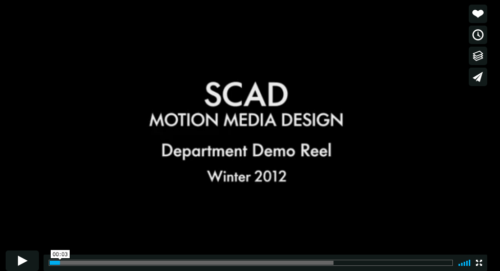 SCAD - Motion Media Demo Reel